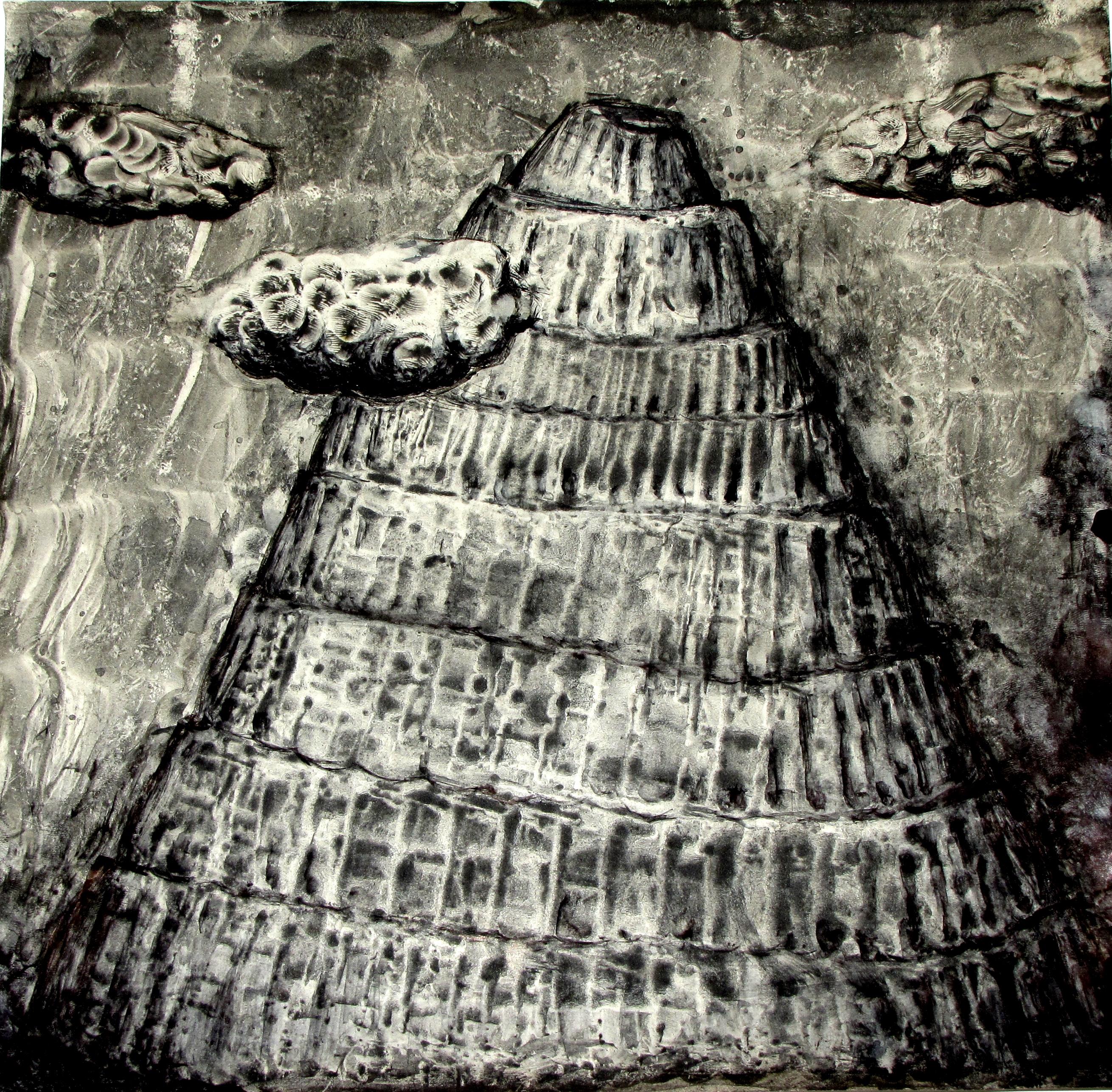 Babylon (aquarelle, 30x30cm.)