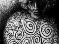 King Lear (black marker, A3)